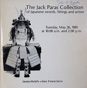 The Jack Paras collection of Japanese swords, fittings and armor