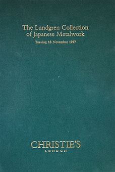 The Lundgren Collection of Japanese Metalwork, Tuesday, 18 November 1997